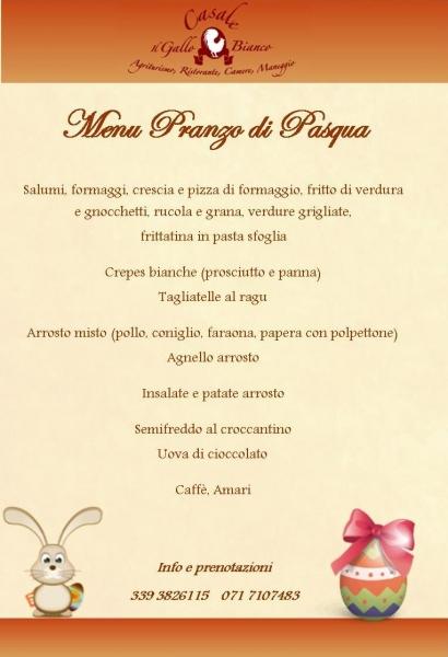 Pranzo di pasqua agriturismo ancona - Menu per ospiti a pranzo ...
